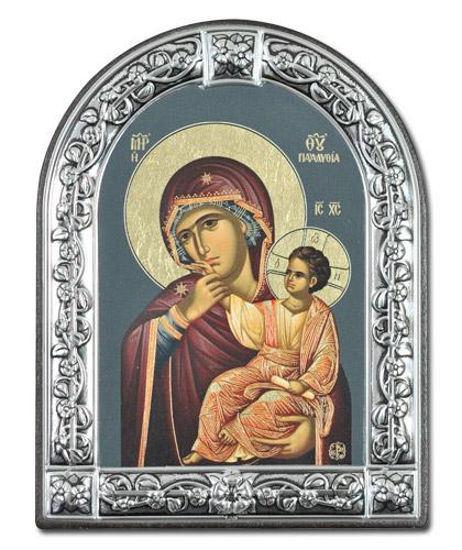 """Икона Божией Матери """"Отрада и утешение"""" (Греция, 13х10 см.)"""