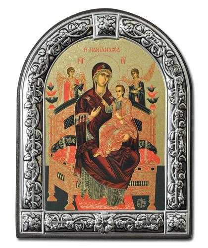"""Икона Божией Матери """"Всецарица"""" (Греция, 13х10 см.)"""