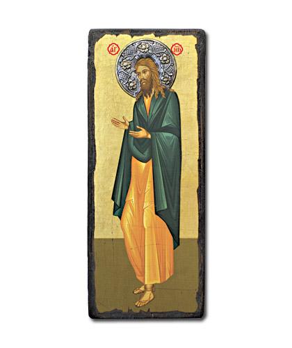 Икона Иоанн Предтеча (Греция, 35x13 см.)