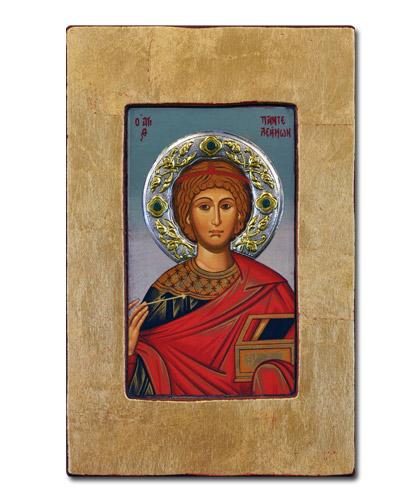 Икона Великомученик Пантелеймон (Греция, 34x22 см.)