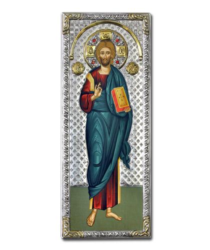 Икона Христос Вседержитель (Греция, 39x16 см)