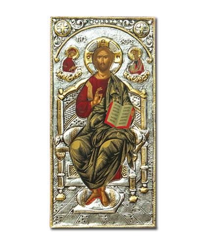 Икона Христос на троне (Греция, 30х15 см.)