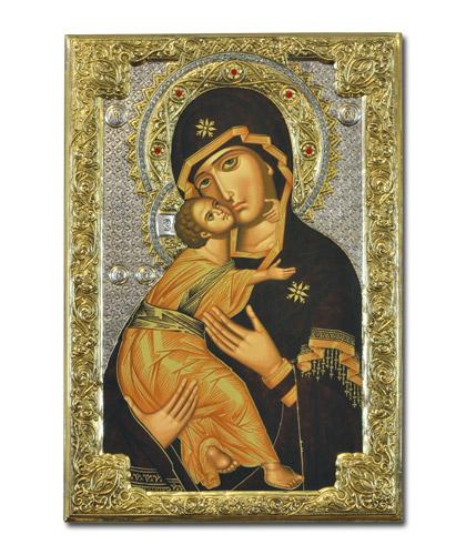 """Икона Божией Матери """"Владимирская"""" (Греция, 26x19S см.)"""