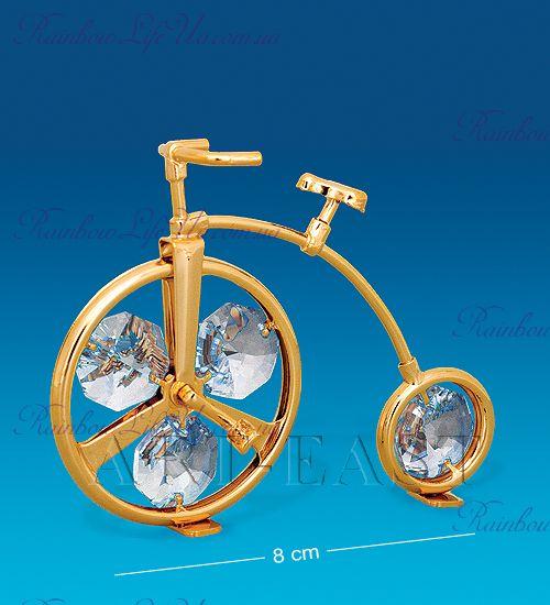 "Фигурка ретро велосипед ""Swarovski"""