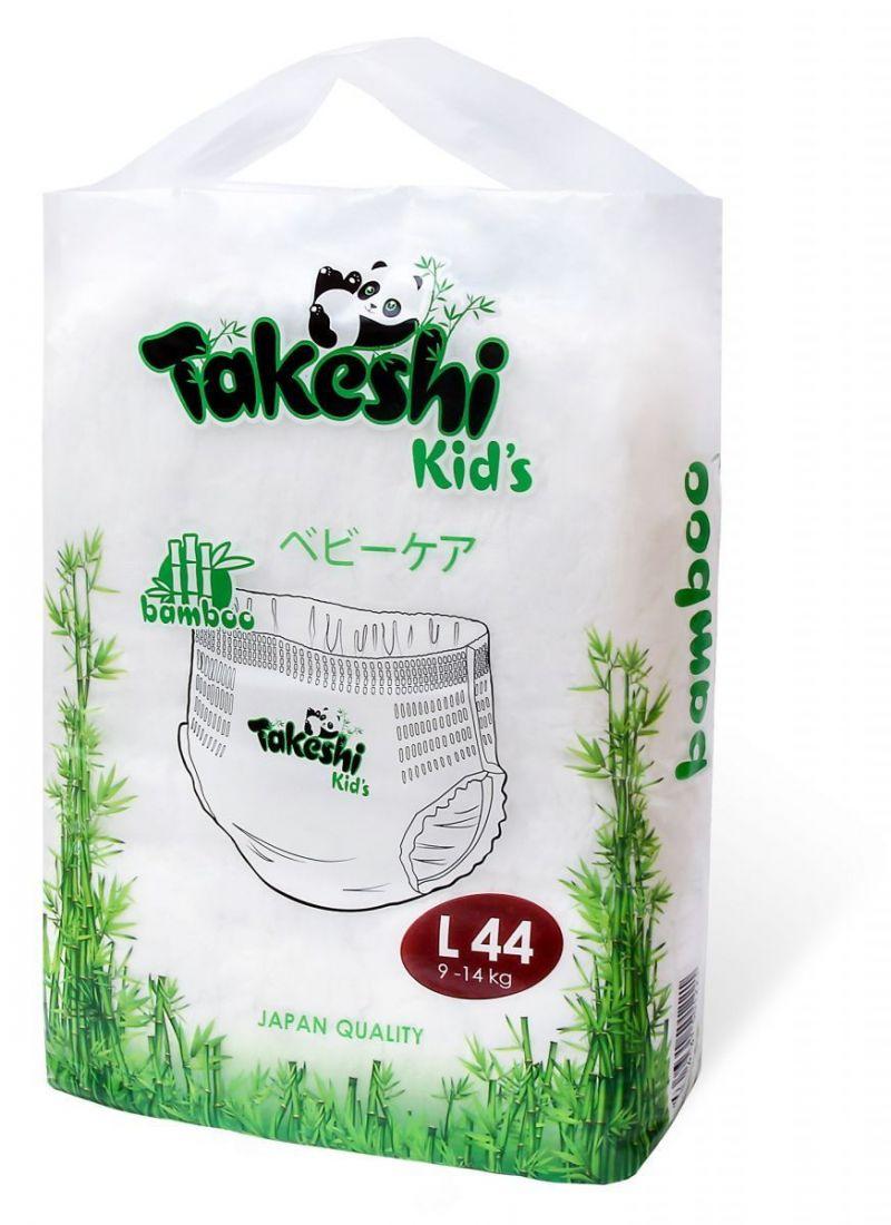Takeshi Kids 9-14 кг L 44 шт,Трусики Универсальные
