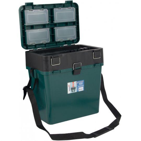 Ящик зимний HELIOS двухсекционный (Тонар) зеленый