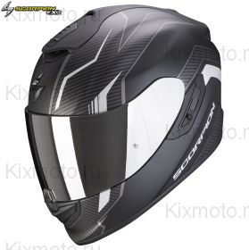 Шлем Scorpion EXO-1400 Air Fortuna, Черный матовый с серебряным
