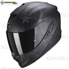 Шлем Scorpion EXO-1400 Air Asio, Черный матовый с серебряным