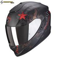Шлем Scorpion EXO-1400 Air Asio, Черный матовый с красным
