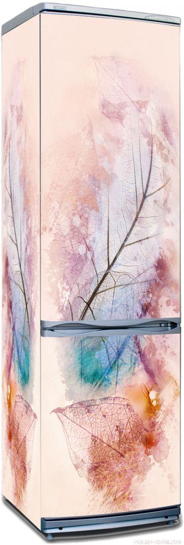 Наклейка на холодильник -  Листья