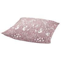 JATTEVALLMO ЙЭТТЕВАЛЛМО, Наволочка, белый/темно-розовый, 70x70 см - 004.849.36