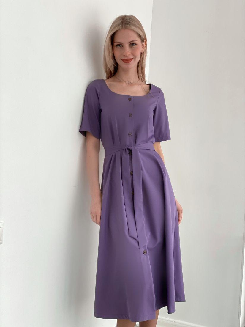 s3763 Платье с вырезом каре в цвете smoky lilac
