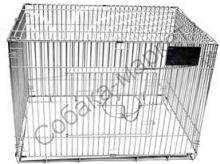 Клетка для выставки собак на колесах и с грум столом 600*400*400