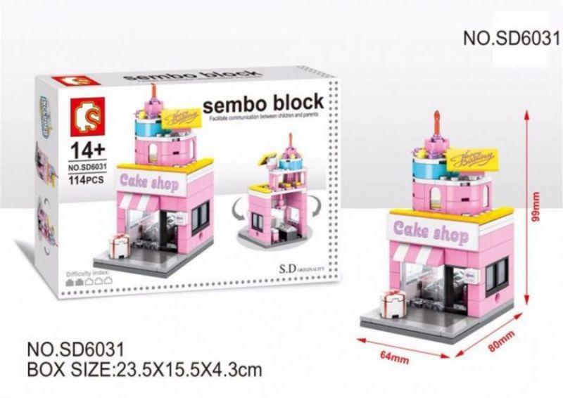 Конструктор SEMBO BLOCK MINI WORLD, CAKE SHOP