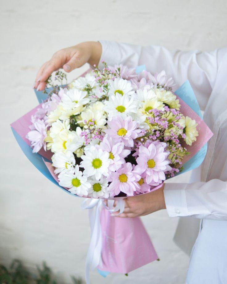 Букет цветов  9 хризантем