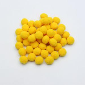 Помпоны, размер 25 мм, цвет 18 желтый (1уп = 50шт)