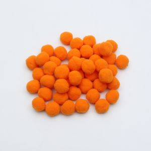 Помпоны, размер 25 мм, цвет 32 светло-оранжевый (1уп = 50шт)