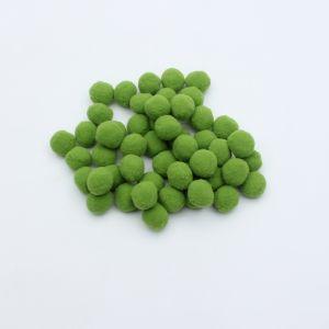 Помпоны, размер 25 мм, цвет 38 зеленое яблоко (1уп = 50шт)
