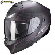 Шлем Scorpion EXO 930 Cielo, Черный матовый с розовым