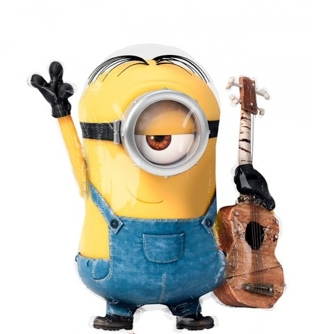Миньон Стюарт с гитарой фигурный шар фольгированный с гелием