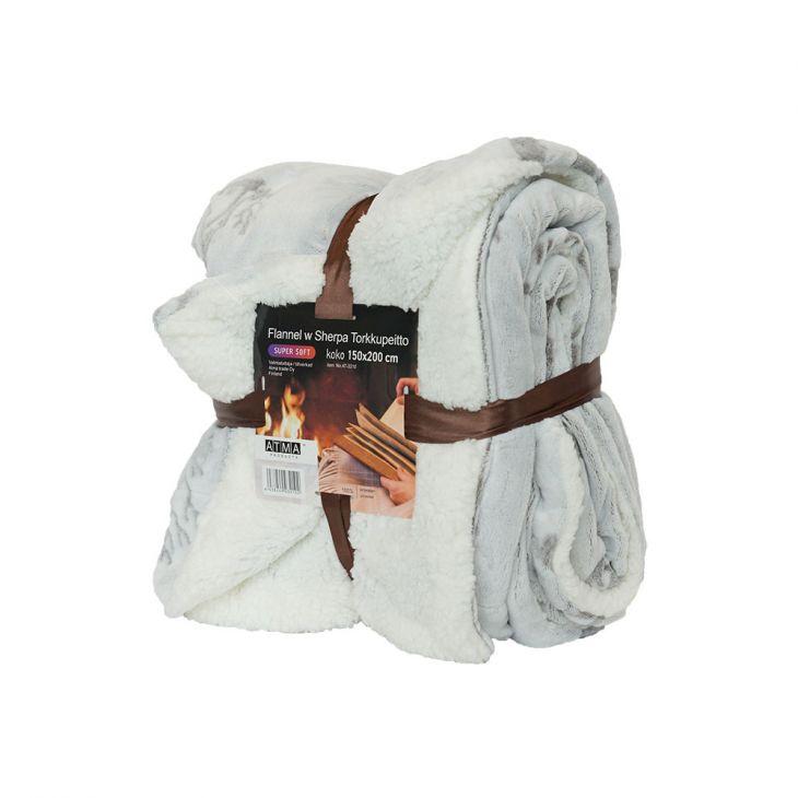 Плед SHERPA Blanket 150х200 см white/gray