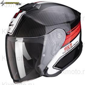 Шлем Scorpion EXO-S1 Cross-Ville, Черный матовый с красным