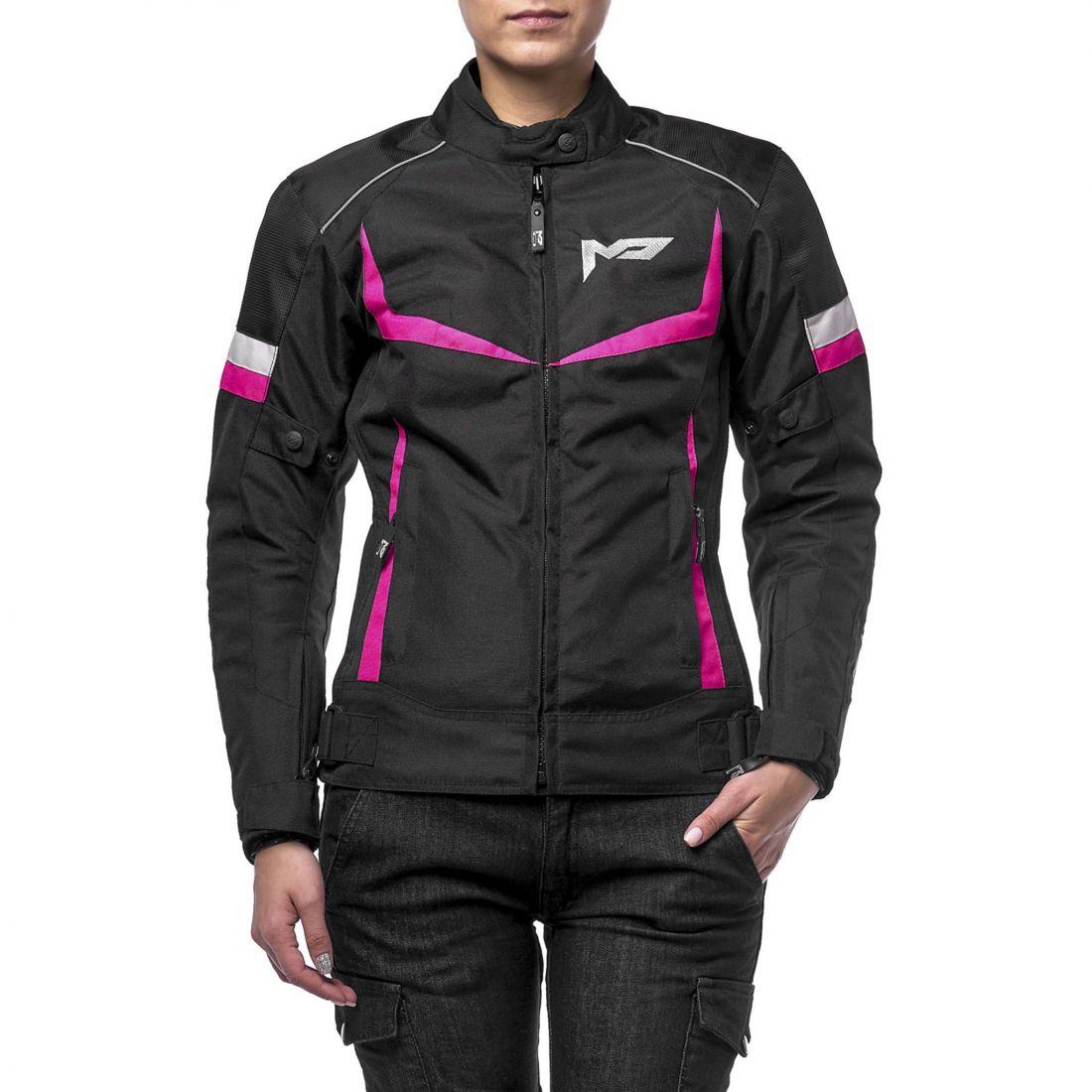 Текстильная женская куртка ASTRA черно-розовая