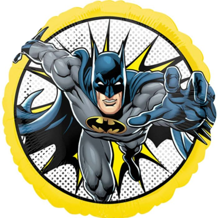Бэтмен круглый шар фольгированный с гелием