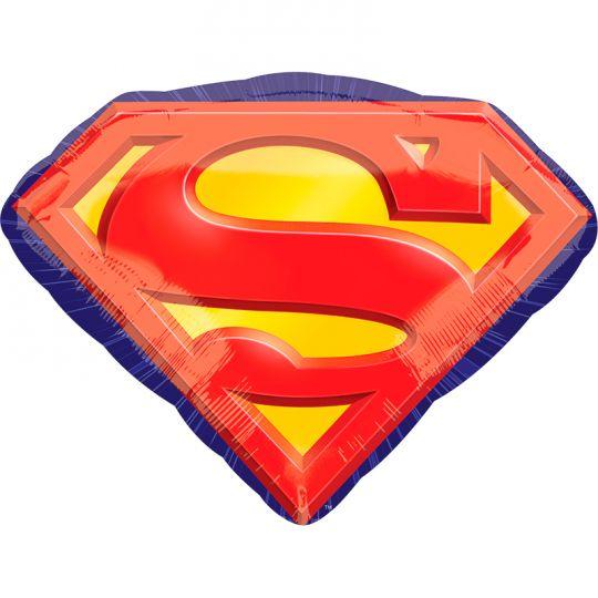 Супермен эмблема шар фольгированный с гелием