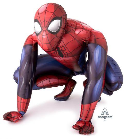 Человек паук ходячий шар фольгированный с гелием