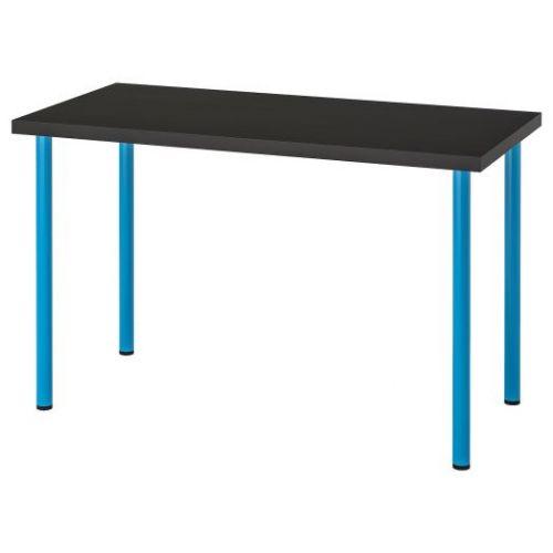 LINNMON ЛИННМОН / ADILS АДИЛЬС, Стол, черно-коричневый/синий, 120x60 см - 692.790.33