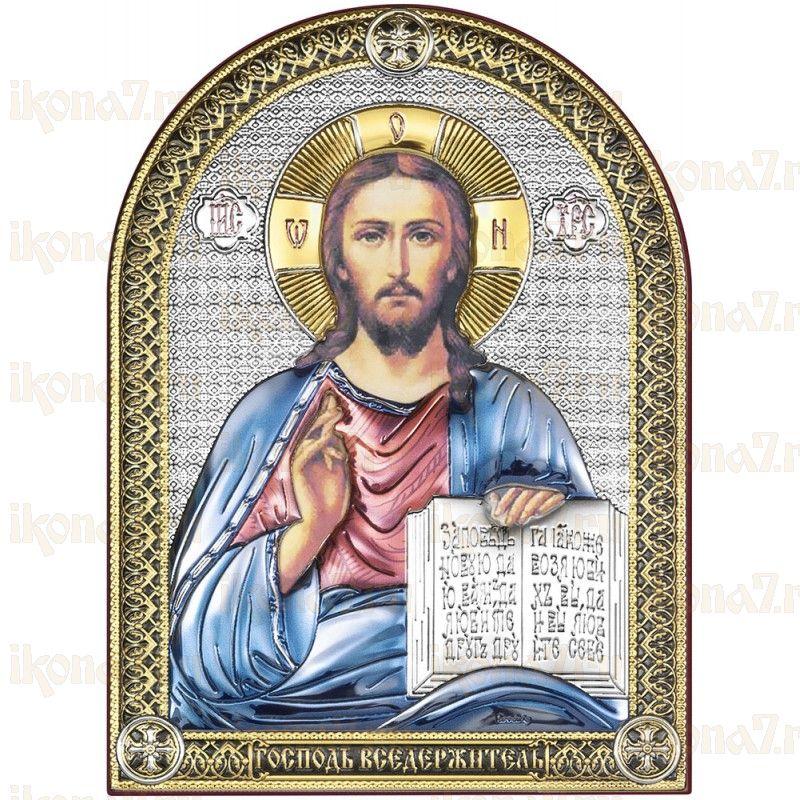 Икона Спас Вседержитель цветная эмаль (Иисус Христос)