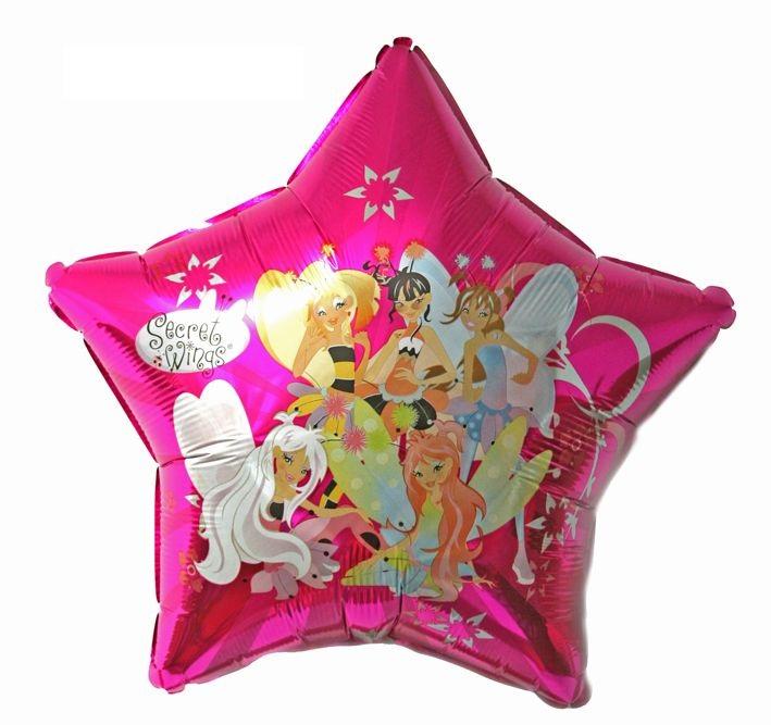 Феи звезда большая шар фольгированный с гелием