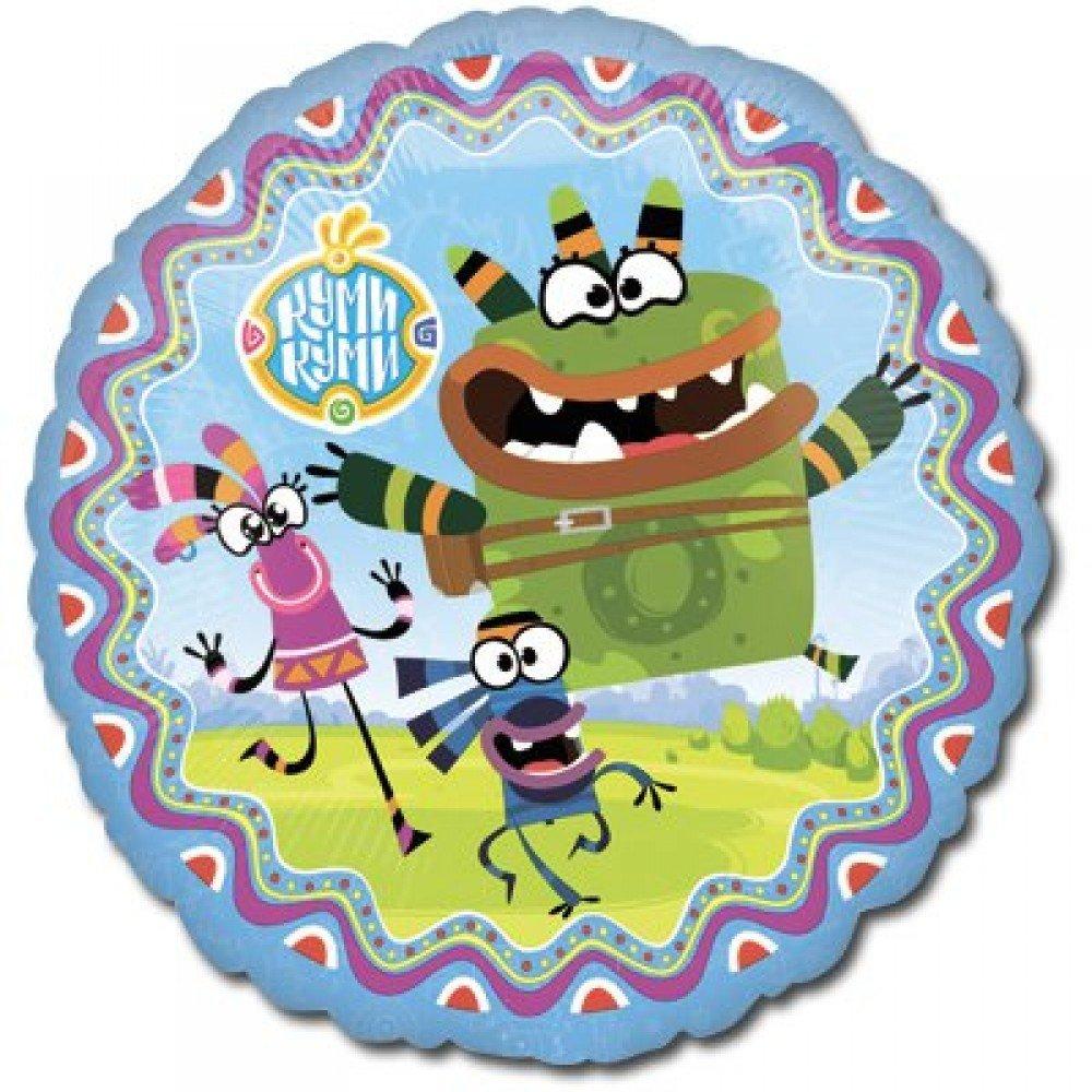 Куми-Куми круглый шар фольгированный с гелием