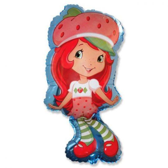 Шарлотта Земляничка фигурный шар фольгированный с гелием