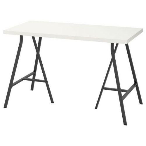 LINNMON ЛИННМОН / LERBERG ЛЕРБЕРГ, Стол, белый/серый, 120x60 см - 692.793.49