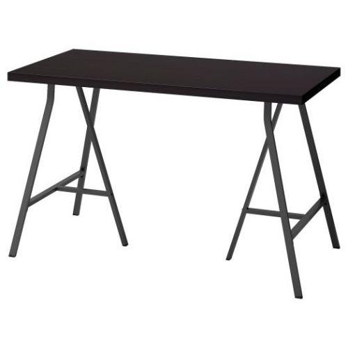 LINNMON ЛИННМОН / LERBERG ЛЕРБЕРГ, Стол, черно-коричневый/серый, 120x60 см - 492.793.45