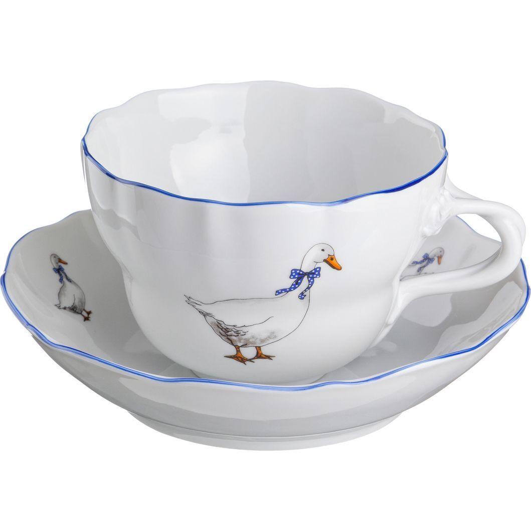 """Чайный набор на 1 персону """"Гуси"""""""