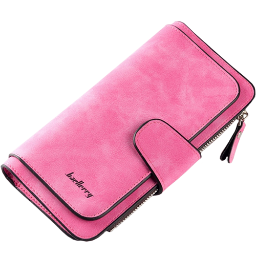 Женский замшевый кошелёк Baellerry Forever. Цвет: розовый.
