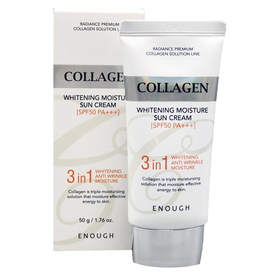 Солнцезащитный крем с коллагеном SPF50 PA+++ Enough Collagen 3in1, 50 мл