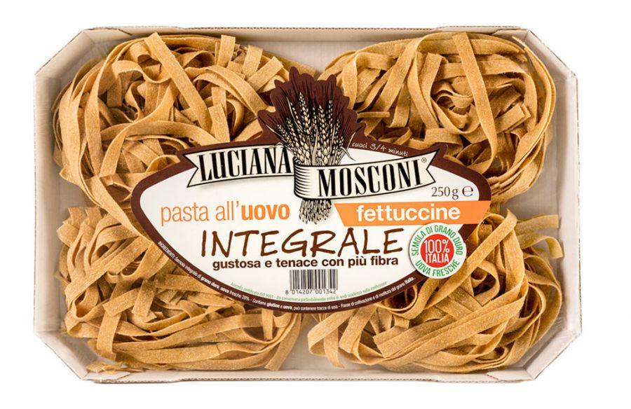 Яичная паста Феттуччине из цельнозерновой муки 250 г, Fettuccine integrali, Luciana Mosconi 250 g