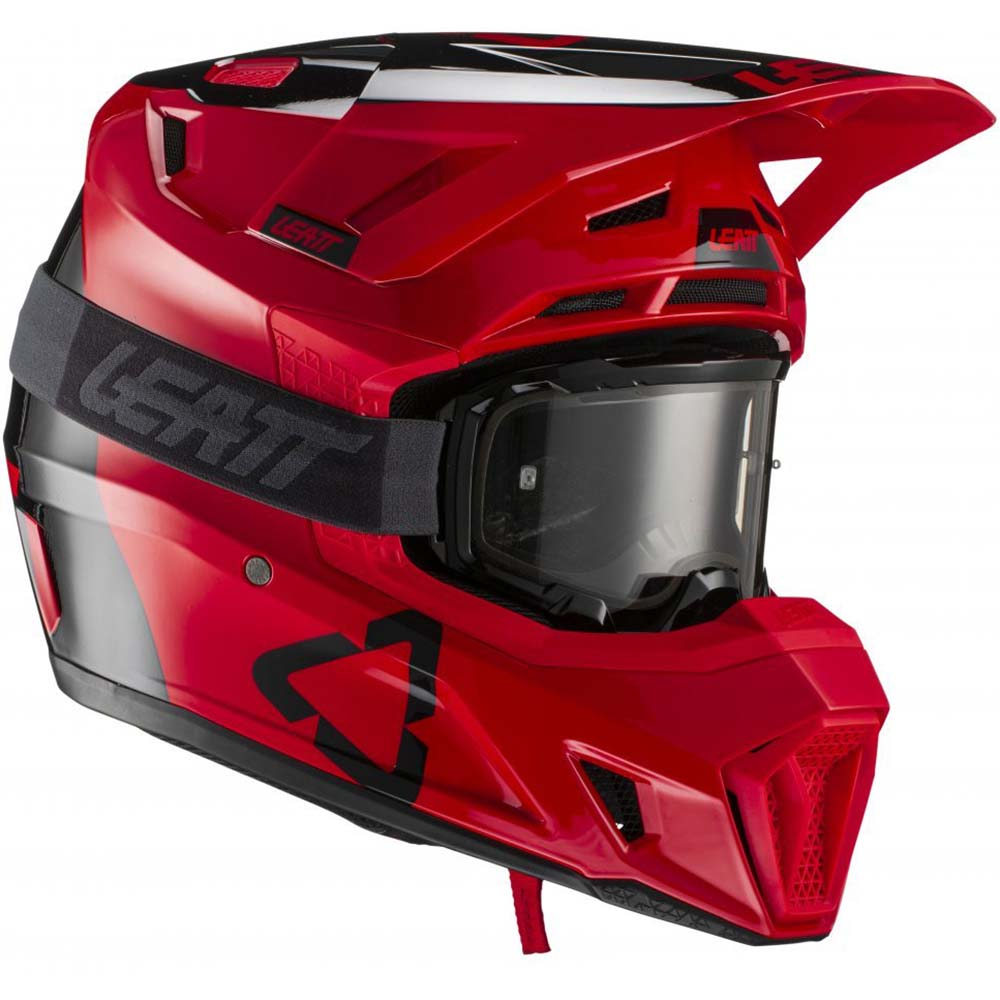 Leatt Kit Moto 7.5 V21.2 Red комплект шлем внедорожный и очки
