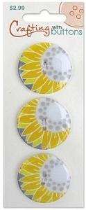 Пуговицы для творчества Crafting with buttons ON TREND SUNFLOWER BLUMENTHAL LANSING (470001201)