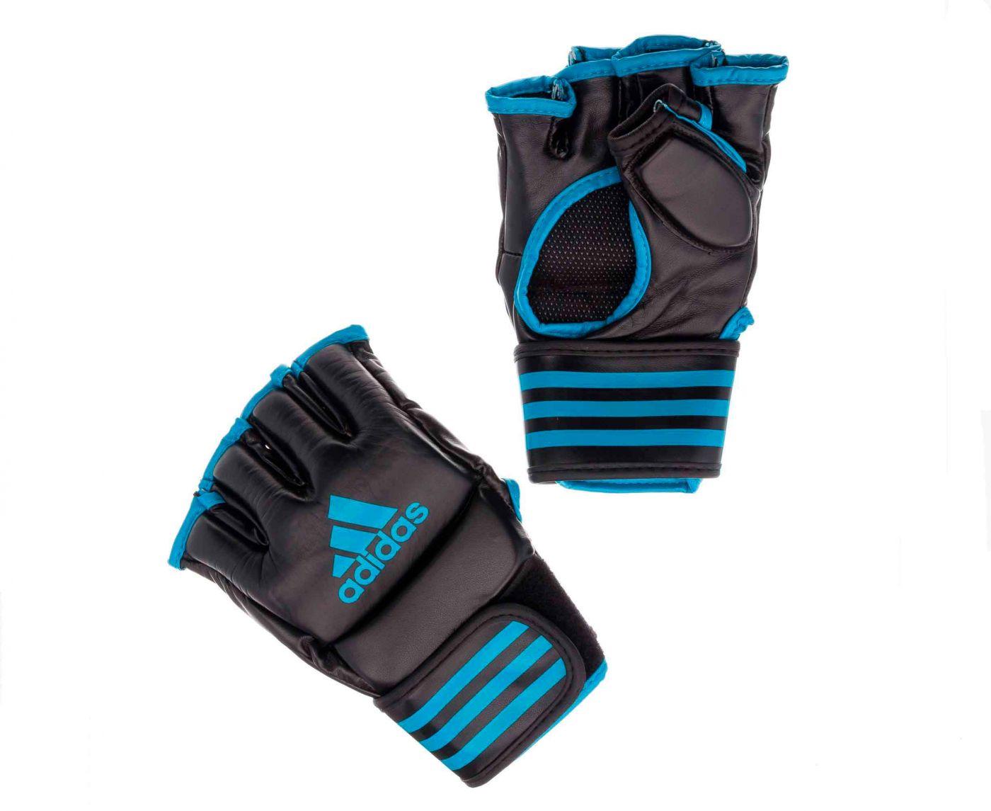 Перчатки для смешанных единоборств Adidas Competition Training чёрно-синие, размер S, артикул adiCSG091