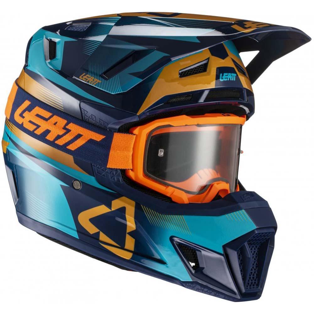 Leatt Kit Moto 7.5 V21.3 Blue комплект шлем внедорожный и очки