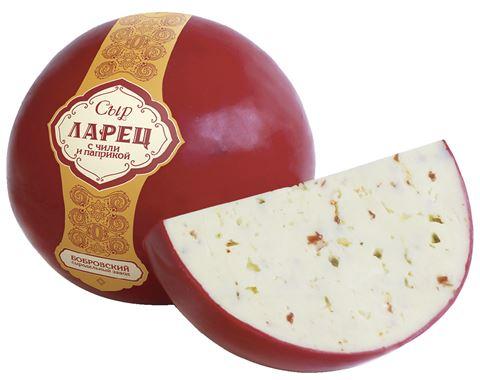 Сыр ЛАРЕЦ с паприкой и перцем чили, ~1кг БЗМЖ