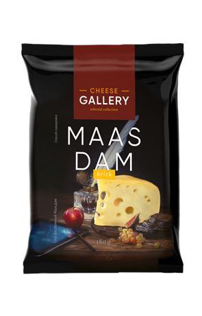 Сыр полутвердый Cheese Gallery Маасдам 45% кусок 180 г БЗМЖ