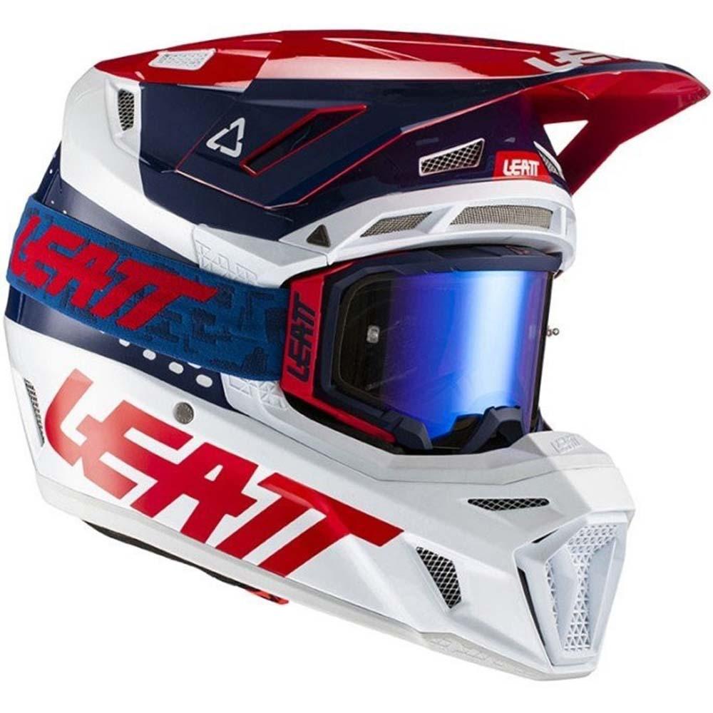 Leatt Kit Moto 8.5 V21.1 Blue комплект шлем внедорожный и очки