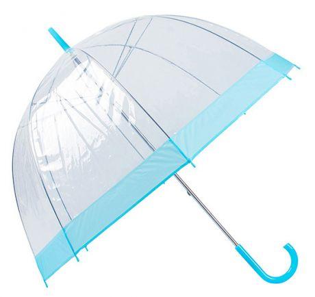 Зонт прозрачный (купол голубой)