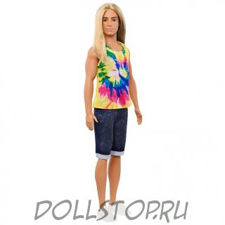 Кен (Barbie) 139 Блондин с длинными волосами - Ken Fashionistas Doll #138 with Long Blonde Hair